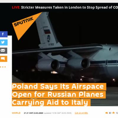 Russischer Senator behauptet fälschlicherweise, Polen hätte Luftraum für Corona-Hilfen gesperrt