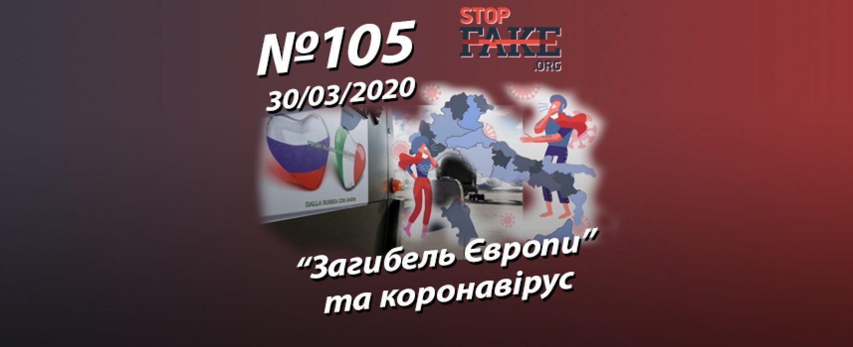 """""""Загибель Європи"""" та коронавірус – StopFake.org"""