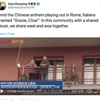 Fake: Gli italiani ringraziano la Cina