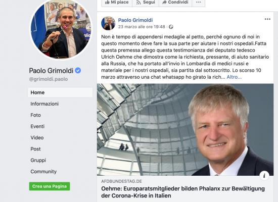 Dietro gli aiuti russi all'Italia ci sono i neonazisti tedeschi