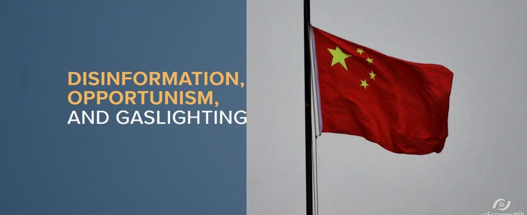 Disinformation, opportunism, and gaslighting: COVID-19 as a vector for Chinese influence in Central Europe