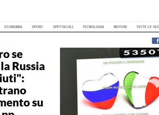 Rosjanie oferują Włochom po 200 euro za nakręcenie wideo z podziękowaniami dla Rosji i Putina – La Repubblica