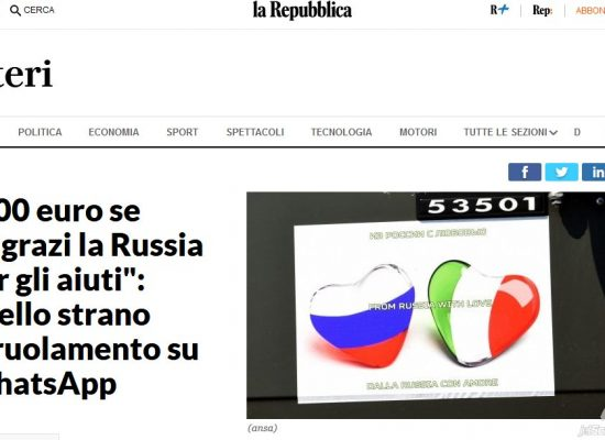 Italians offered EUR 200 for praising Putin's help on camera – media