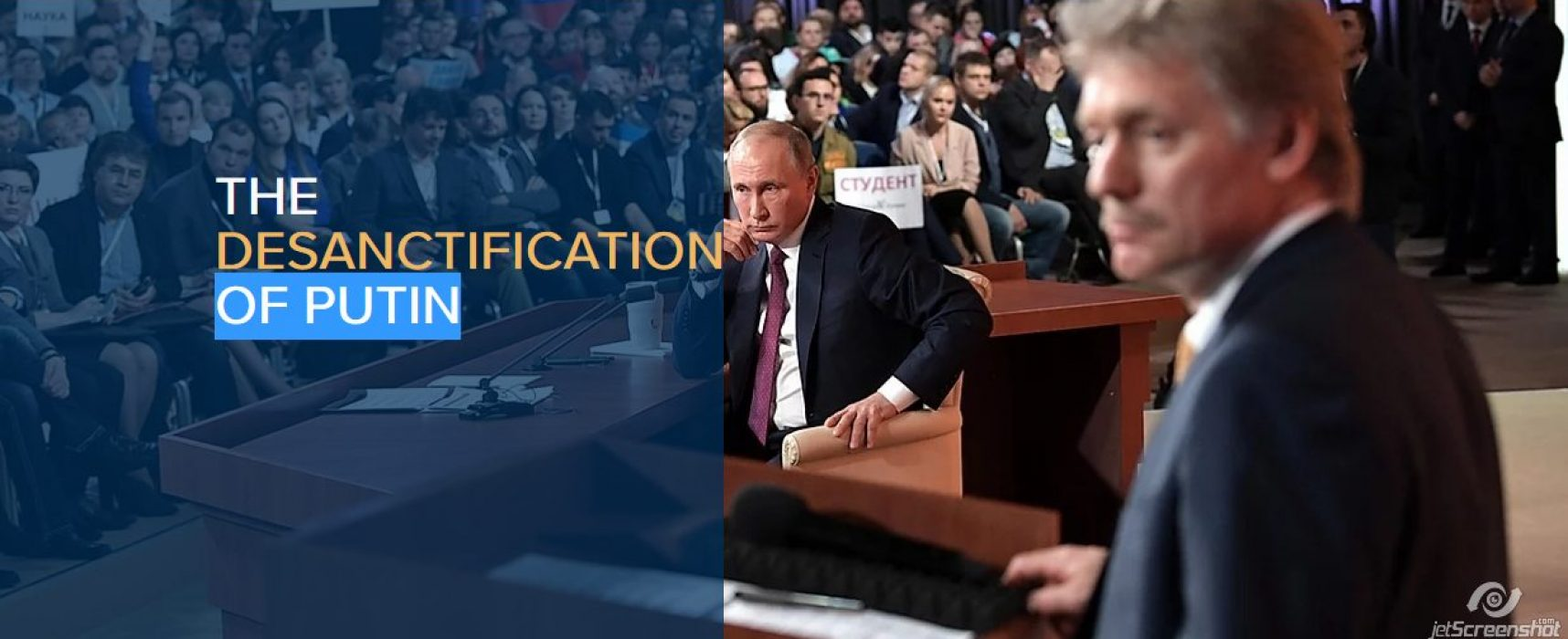 The desanctification of Putin