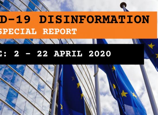 Оновлення спеціального звіту Європейської служби зовнішніх зв'язків (ЄСЗЗ): короткий огляд наративів і дезінформації щодо пандемії коронавірусної інфекції COVID-19 (оновлення за період з 2 по 22 квітня)