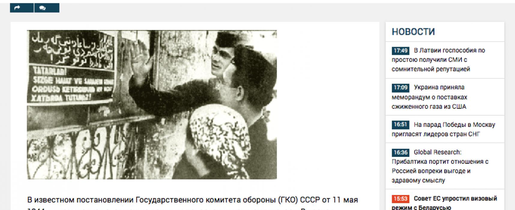 Fake: Krymští Tataři byli deportováni za dezerci z Rudé armády a vlastizradu