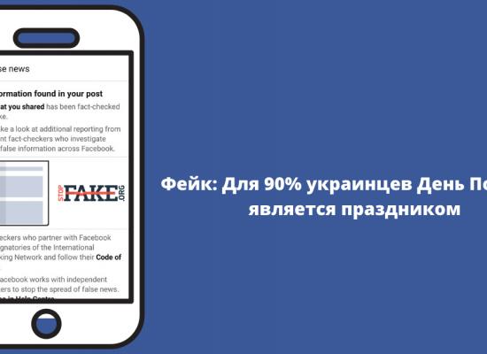 Фейк: Для 90% украинцев День Победы является праздником