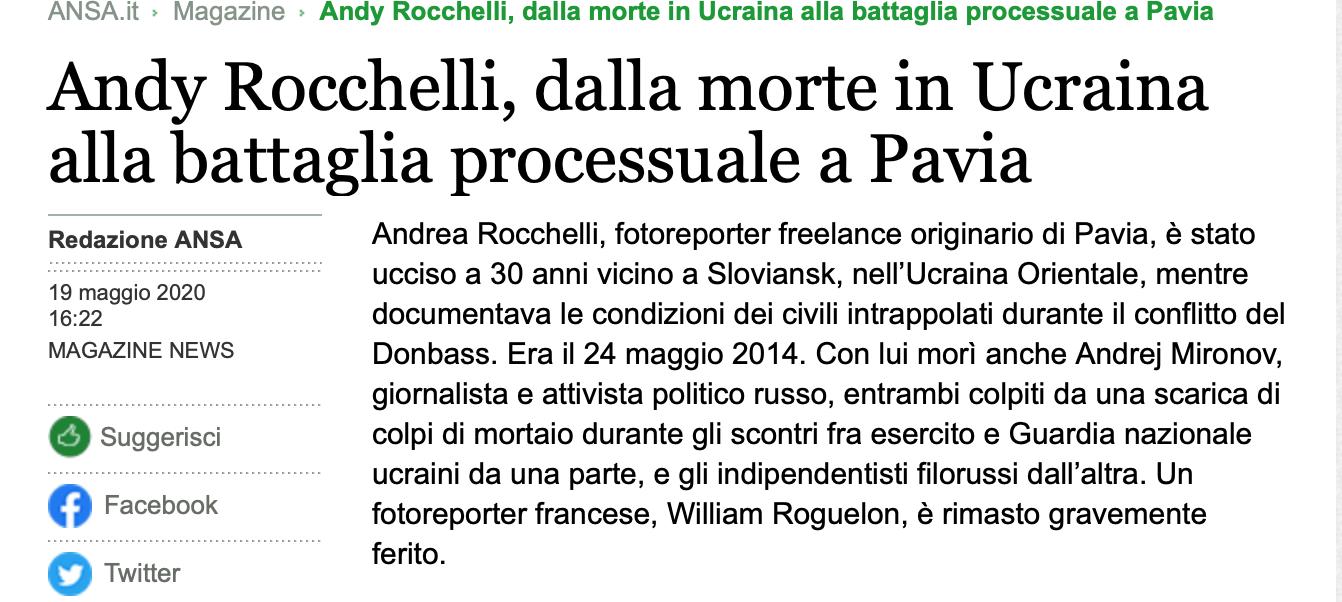 Fake ANSA Rocchelli Markiv