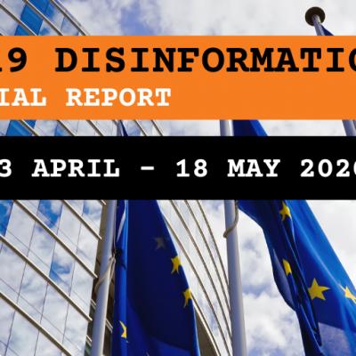 Zvláštní zpráva evropské služby pro vnější činnost (ESVČ): dezinformace o koronaviru – krátké zhodnocení narativů a dezinformací okolo pandemie COVID 19 (aktualizace 23. dubna – 18. května)