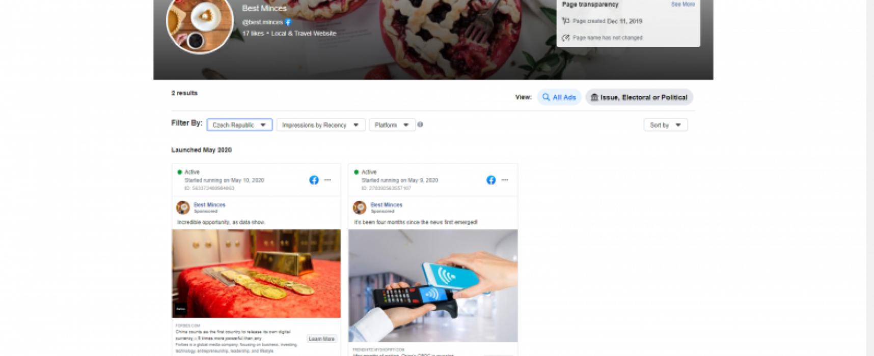 Estafadores de criptomonedas inundan a usuarios de Facebook con anuncios de falsos artículos de Forbes.com
