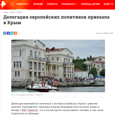 Fake: EU Delegation Visits Crimea