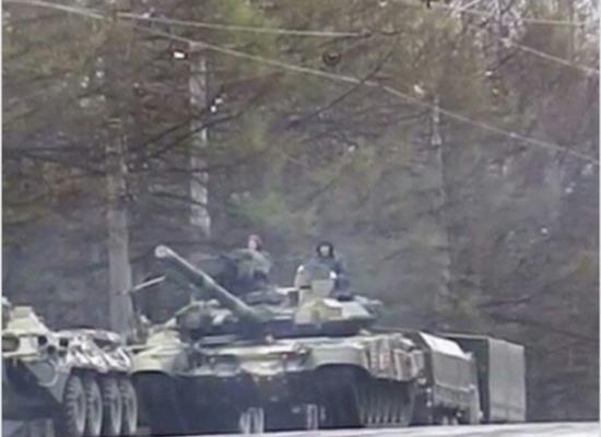 Fake: Russische Panzer in Smolensk auf dem Weg zur belarusischen Grenze