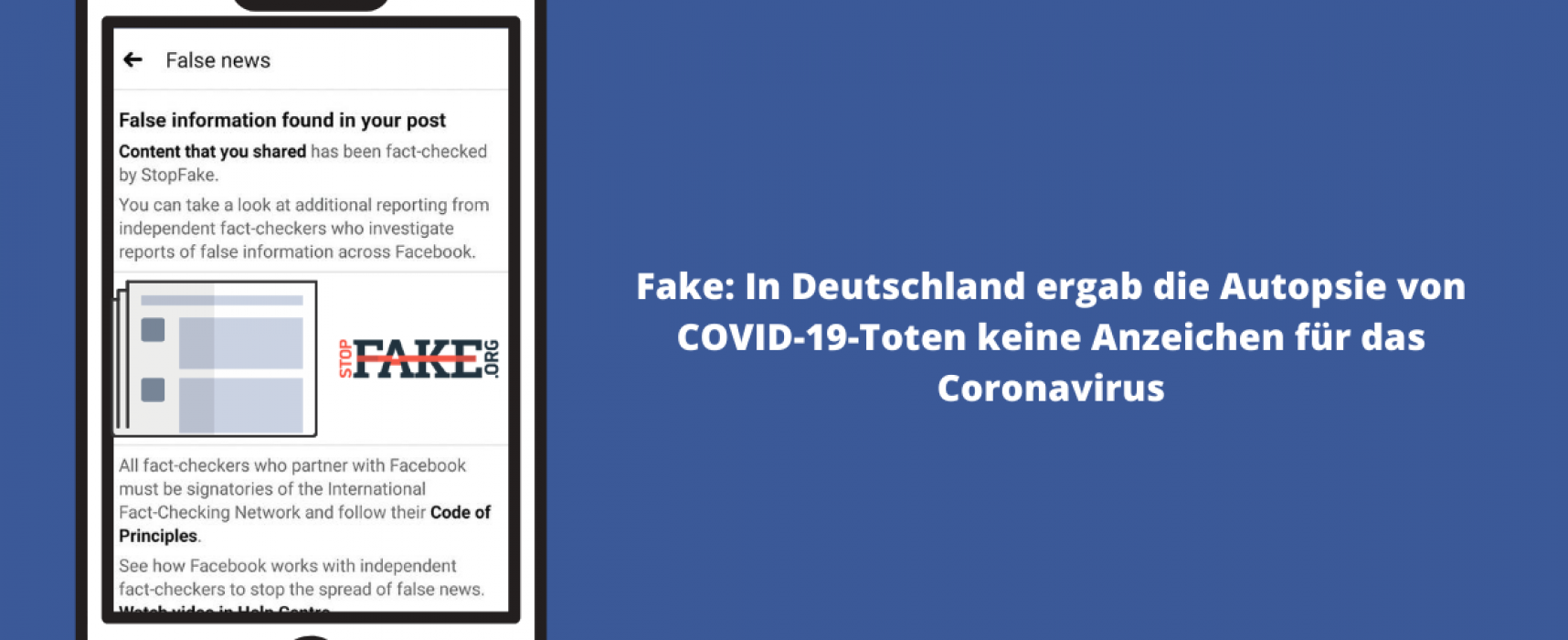 Fake: In Deutschland ergab die Autopsie von COVID-19-Toten keine Anzeichen für das Coronavirus