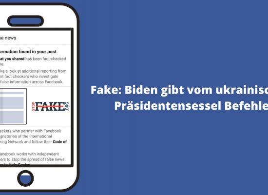 Fake: Biden gibt vom ukrainischen Präsidentensessel Befehle