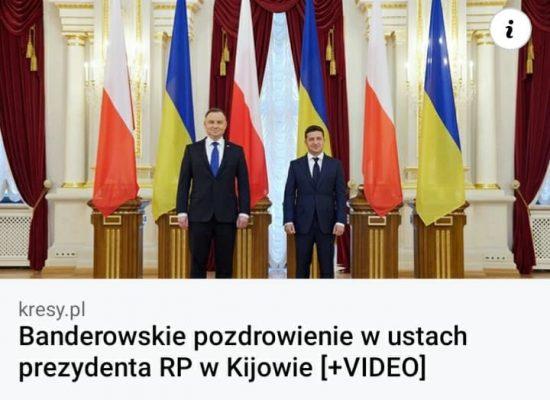 Fake: Prezydent Andrzej Duda napluł na pamięć o Wołyniu