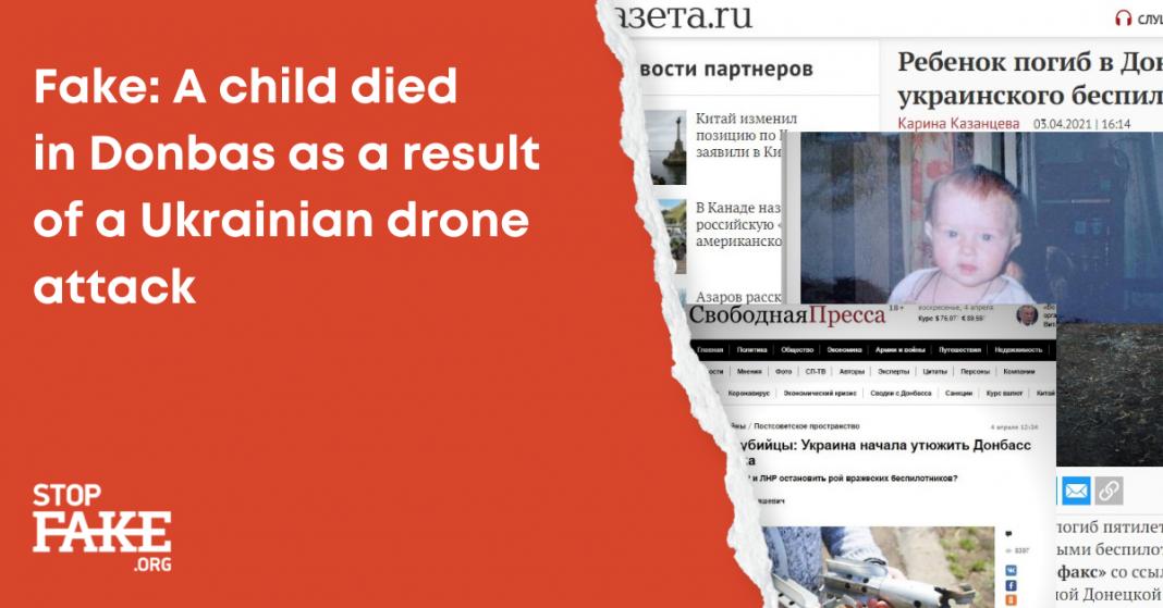 Bambino ucciso da un drone in Donbas